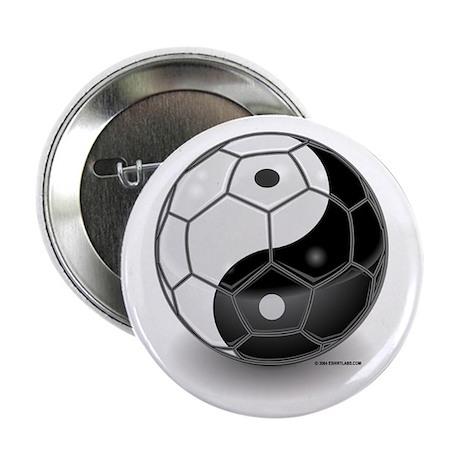 "Ying Yang Soccer Ball 2.25"" Button (10 pack)"