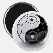 Ying Yang Soccer Ball Magnet