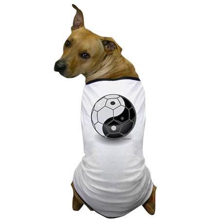 Ying Yang Soccer Ball Dog T-Shirt