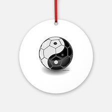 Ying Yang Soccer Ball Keepsake (Round)