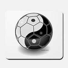 Ying Yang Soccer Ball Mousepad