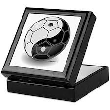 Ying Yang Soccer Ball Keepsake Box