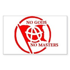 NO GODS - NO MASTERS Rectangle Decal