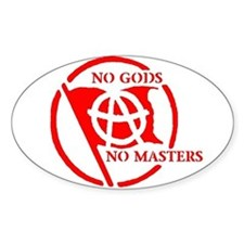 NO GODS - NO MASTERS Oval Decal