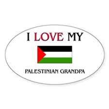 I Love My Palestinian Grandpa Oval Decal