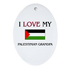 I Love My Palestinian Grandpa Oval Ornament