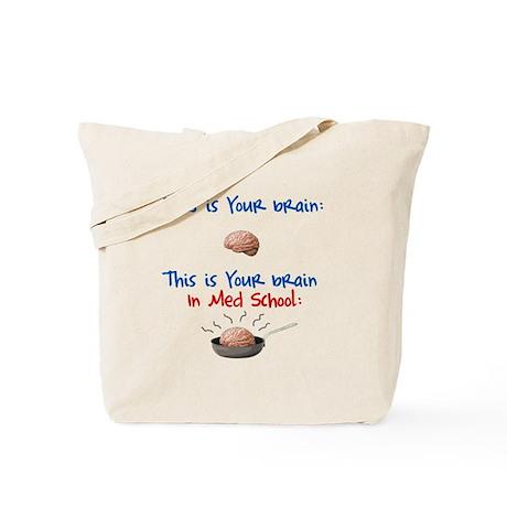 Brain in Med School Tote Bag