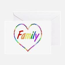 Rainbow Family Greeting Card