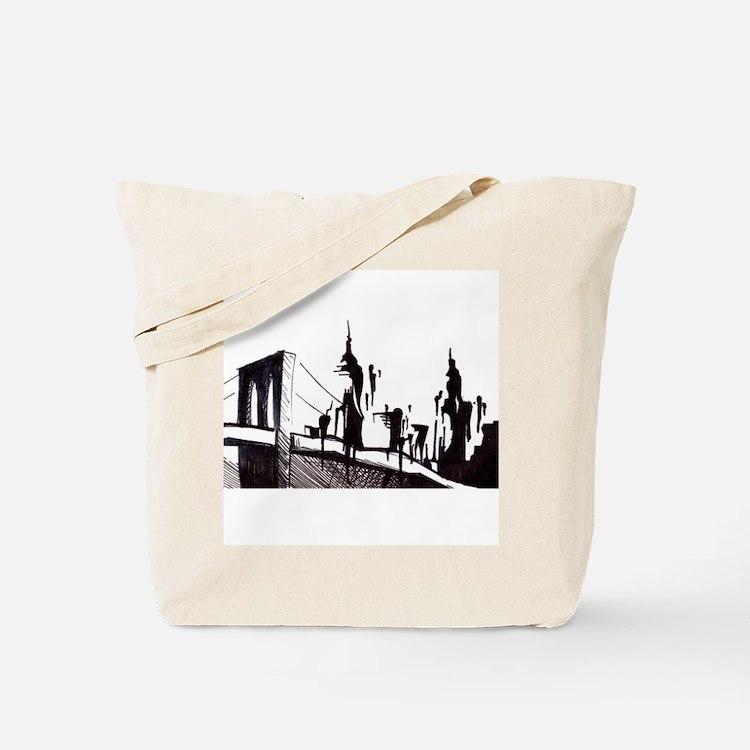 Cute Brooklyn new york Tote Bag