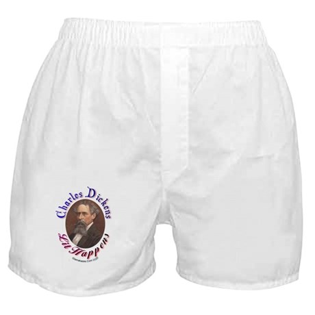 """Charles Dickens """"Lit Happens! Boxer Shorts"""