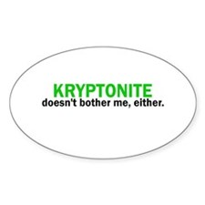 Kryptonite Oval Decal