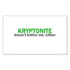 Kryptonite Rectangle Decal