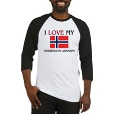 I Love My Norwegian Grandpa Baseball Jersey