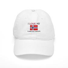 I Love My Norwegian Grandpa Baseball Baseball Cap