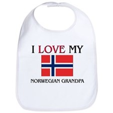 I Love My Norwegian Grandpa Bib