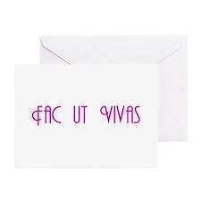 "Fac ut Vivas ""Get a Life!"" Greeting Cards (Package"