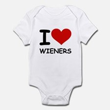 I LOVE WIENERS Infant Bodysuit