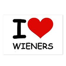 I LOVE WIENERS Postcards (Package of 8)