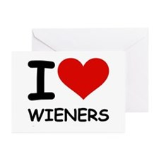 I LOVE WIENERS Greeting Cards (Pk of 20)