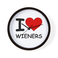 I LOVE WIENERS Wall Clock