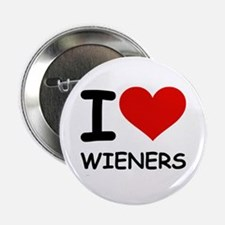 """I LOVE WIENERS 2.25"""" Button (10 pack)"""