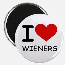 I LOVE WIENERS Magnet
