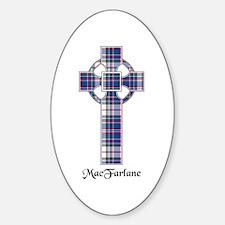 Cross-MacFarlane dress Sticker (Oval)