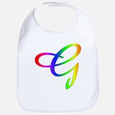 Rainbow Cursive G Bib
