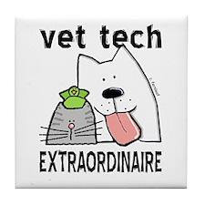 Vet Tech Extraordinaire Tile Coaster