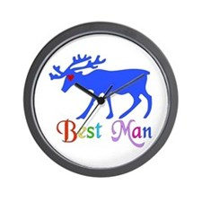 Best Man Stag Wall Clock