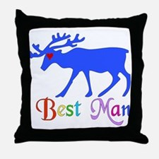 Best Man Stag Throw Pillow