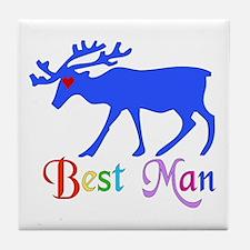 Best Man Stag Tile Coaster