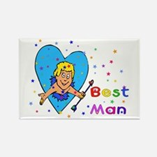 Best Man Cupid Rectangle Magnet