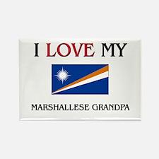 I Love My Marshallese Grandpa Rectangle Magnet