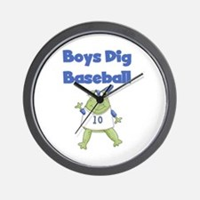 Frog Boys Baseball Wall Clock
