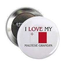 """I Love My Maltese Grandpa 2.25"""" Button"""