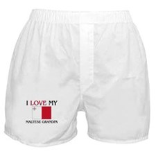 I Love My Maltese Grandpa Boxer Shorts