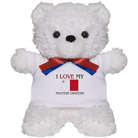 I Love My Maltese Grandpa Teddy Bear