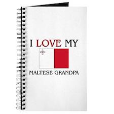 I Love My Maltese Grandpa Journal