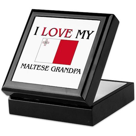 I Love My Maltese Grandpa Keepsake Box