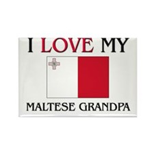 I Love My Maltese Grandpa Rectangle Magnet (10 pac