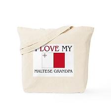 I Love My Maltese Grandpa Tote Bag