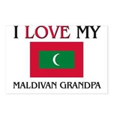 I Love My Maldivan Grandpa Postcards (Package of 8