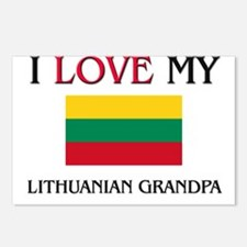 I Love My Lithuanian Grandpa Postcards (Package of