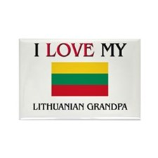 I Love My Lithuanian Grandpa Rectangle Magnet
