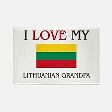 I Love My Lithuanian Grandpa Rectangle Magnet