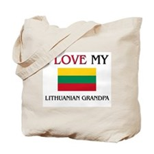 I Love My Lithuanian Grandpa Tote Bag