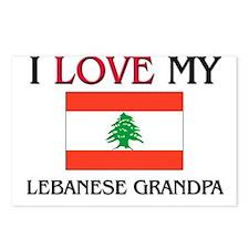 I Love My Lebanese Grandpa Postcards (Package of 8