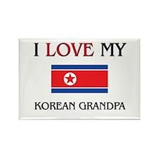 I Love My Korean Grandpa Rectangle Magnet