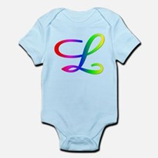 Rainbow Cursive L Infant Creeper